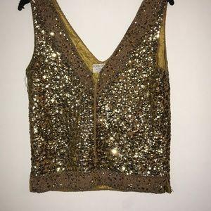 Vintage sequins top